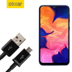This 1 meter data / charging cable from Olixar allows you to connect your Samsung Galaxy A10 to a PC via Micro USB. It supports charging currents over 2 amps, so your Samsung Galaxy A10 can be up and running from flat in no time.