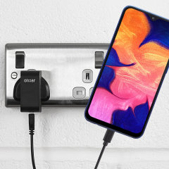 Charge your Samsung Galaxy A10 quickly and conveniently with this compatible 2.5A high power charging kit. Featuring mains adapter and USB cable.
