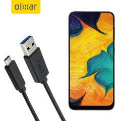Zorg ervoor dat uw Samsung Galaxy A30 altijd volledig is opgeladen en gesynchroniseerd met deze compatibele USB 3.1 Type-C Male naar USB 3.0 mannelijke kabel. U kunt deze kabel gebruiken met een USB-wandlader of via uw desktop of laptop.