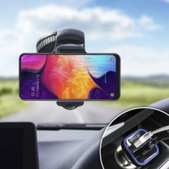 Essential items you need for your smartphone during a car journey all within the Olixar DriveTime In-Car Pack. Featuring a robust one-handed phone car mount and car charger with an additional USB port for your Samsung Galaxy A50.