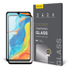 Olixar Huawei P30 Lite Full Cover Glass Screen Protector - Black