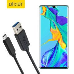 Zorg ervoor dat uw Huawei P30 Pro altijd volledig is opgeladen en gesynchroniseerd met deze compatibele USB 3.1 Type-C Male naar USB 3.0 mannelijke kabel. U kunt deze kabel gebruiken met een USB-wandlader of via uw desktop of laptop.