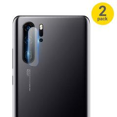 Este pack de 2 protectores para la cámara del Huawei P30 Pro le ayudará a evitar arañazos o roturas en la lente de la cámara de fotos.