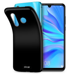 Custom moulded for the Huawei P30 Lite, this solid black Olixar FlexiShield case provides slim fitting and durable protection against damage.
