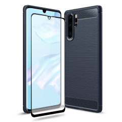 Olixar Sentinel Huawei P30 Pro Case And Glass Screen Protector - Blue