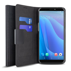 The Olixar leather-style HTC Desire 12S Wallet Case in black attaches to the back of your phone to provide superb enclosed protection and can also be used to hold your credit cards. So you can leave your other wallet home as this case has it all covered.