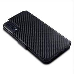 All the benefits of a wallet case but far more streamlined. The Olixar Carbon Fibre Textured Low Profile in black is the perfect partner for the the Samsung Galaxy A50 owner on the move. What's more, this case transforms into a handy stand to view media.
