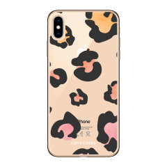 LoveCases iPhone XS Max Coloured Leopard Clear Phone Case