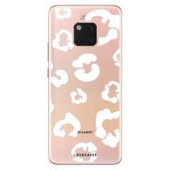 Coque Huawei Mate 20 Pro LoveCases Traces de léopard – Transparent