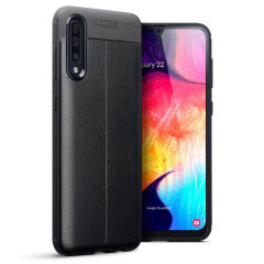 Olixar Attache Samsung Galaxy A70 Leather-Style Case - Black