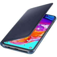 Protect your Samsung Galaxy A70's back, sides and screen from harm while keeping your most vital cards close to hand with the official flip wallet cover in Black and Blue from Samsung.