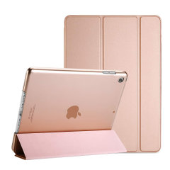 Protect your iPad Mini 2019 with this supremely functional transparent and Rose Gold case with viewing stand feature. Also features smart sleep / wake functionality.