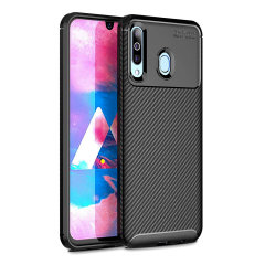 Olixar Carbon Fibre case is a perfect choice for those who need both the looks and protection! A flexible TPU material is paired with an eye-catching carbon print to make sure your Samsung Galaxy M30 is well-protected and looks good in any setting.