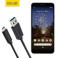 Zorg ervoor dat uw Google Pixel 3 Lite altijd volledig is opgeladen en gesynchroniseerd met deze compatibele USB 3.1 Type-C Male naar USB 3.0 mannelijke kabel. U kunt deze kabel gebruiken met een USB-wandlader of via uw desktop of laptop.