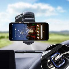 Houd je telefoon veilig in je auto met deze volledig verstelbare DriveTime-autohouder voor je Google Pixel 3 Lite.