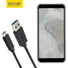 Zorg ervoor dat uw Google Pixel 3 XL Lite altijd volledig is opgeladen en gesynchroniseerd met deze compatibele USB 3.1 Type-C Male naar USB 3.0 mannelijke kabel. U kunt deze kabel gebruiken met een USB-wandlader of via uw desktop of laptop.