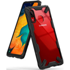 Keep your Samsung Galaxy A30 protected from bumps and drops with the Rearth Ringke Fusion X tough case in Black. Featuring a 2-part, Polycarbonate design, this case lives up to military drop-test standards so you can rest assured that your device is safe