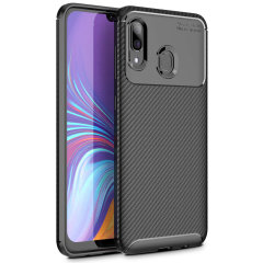 Olixar Carbon Fibre case is a perfect choice for those who need both the looks and protection! A flexible TPU material is paired with an eye-catching carbon print to make sure your Samsung Galaxy A40 is well-protected and looks good in any setting.