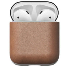 Designed to give your AirPods a classic, yet bold new look. This Natural Leather, minimalist, two-piece Rugged Case is built with genuine, vegetable-tanned leather from one of America's oldest tanneries.