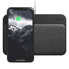 Goditi la comodità senza cavi della ricarica wireless veloce in movimento per il tuo smartphone compatibile con questo compatto e leggero pad wireless Qi nero Qi di Nomad. Ricarica fino a 4 dispositivi contemporaneamente.