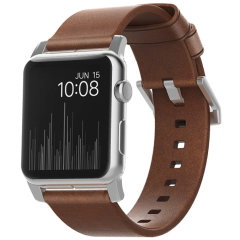 With this beautiful Rustic Brown Leather premium wrist strap from Nomad with silver hardware, express yourself and customise your beautiful new Apple Watch Series 1-4 to suit your personal sense of style.