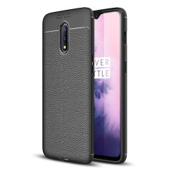 Olixar Attache OnePlus 7 Leather-Style Protective Case - Black