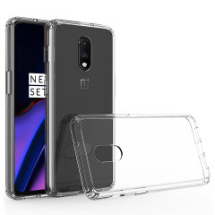 Custom moulded for the OnePlus 7, this crystal clear Olixar ExoShield tough case provides a slim fitting, stylish design and reinforced corner protection against shock damage, keeping your device looking great at all times.