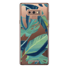 LoveCases Samsung Note 9 Tropical Phone Case - Clear Green