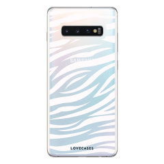 LoveCases Samsung S10 5G Zebra Phone Case - Clear White