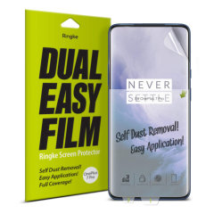 The New 4 Layer Dual Easy Full Coverage Screen Protector from Rearth Ringke for your OnePlus 7 Pro is made to allow easier installation: adhere the protective film onto your phone screen for an effortless and flawless finish.