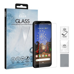 Presentamos lo último en protección de pantalla para el Google Pixel 3a XL, el protector 2.5D Glass de Eiger está hecho de vidrio real de primera calidad con bordes redondeados y película anti-rotura.