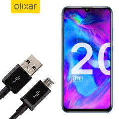 This 1 meter data / charging cable from Olixar allows you to connect your Honor 20 Lite to a PC via Micro USB. It supports charging currents over 2 amps, so your Honor 20 Lite can be up and running from flat in no time.