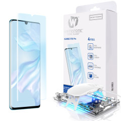 The Whitestone Dome Glass screen protector for Huawei P30 Pro uses a UV lamp with a proprietary UV adhesive installation to ensure a total and perfect fit for your device. Featuring 9H hardness for absolute protection, as well as 100% touch sensitivity.