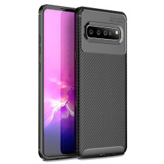 Olixar Carbon Fibre case is a perfect choice for those who need both the looks and protection! A flexible TPU material is paired with an eye-catching carbon print to make sure your  Samsung Galaxy S10 5G is well-protected and looks good in any setting.