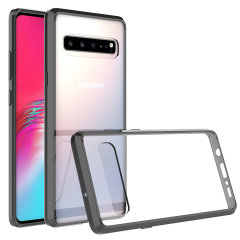 Custom moulded for the Samsung Galaxy S10 5G. This black Olixar ExoShield tough case provides a slim fitting stylish design and reinforced corner shock protection against damage, keeping your device looking great at all times.