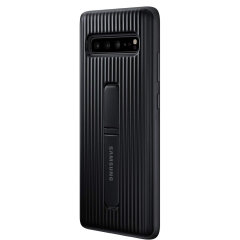 This Official Samsung Protective cover in black is the perfect accessory for your Galaxy S10 smartphone.