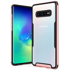The Protective Fuse Series for the Samsung Galaxy S10. The rose gold finish gives you protection for your phone in style. This case is made for pure luxury and style.