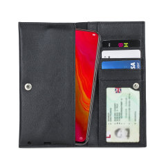 Olixar Primo Genuine Leather Oppo Reno Lite Wallet Case - Black