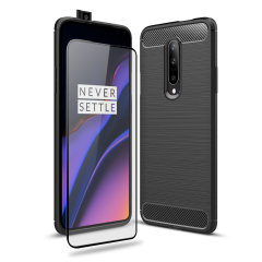 Flexible rugged casing with a premium matte finish non-slip carbon fibre and brushed metal design, the Olixar Sentinel case in black keeps your OnePlus 7 Pro 5G protected from 360 degrees with the added bonus of a tempered glass screen protector.