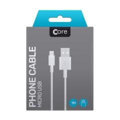 The core data / charging cables allows you to connect any device such as phones to a PC or mains charger via MicroUSB. It supports charging currents over 2 amps