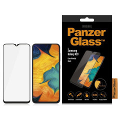 Introducing the premium range PanzerGlass Glass Case Friendly screen protector. Designed to be shock and scratch resistant, PanzerGlass offers the ultimate protection for your stunning Samsung Galaxy A20