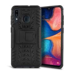 Protección de alta calidad para el Samsung Galaxy A20 de golpes y arañazos gracias a esta funda Olixar ArmourDillo.