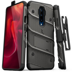 Equip your OnePlus 7 Pro with military grade protection and superb functionality with the ultra-rugged Bolt case in red and black from Zizo. Coming complete with a handy belt clip and integrated kickstand.