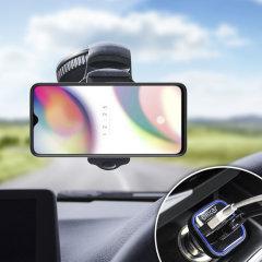 Houd je telefoon veilig in je auto met deze volledig verstelbare DriveTime-autohouder voor je Oppo Reno Z.