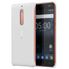 Official Nokia 5 Carbon Fibre Design Hard Tough Case - White