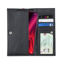Crafted from premium quality genuine leather, with precision stitching and stud closure, and featuring a luxurious soft lining, document pockets and card slots, the Primo Wallet for the Xiaomi Redmi K20 Pro will protect your phone in style.