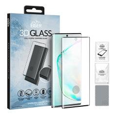Presentamos lo último en protección de pantalla para el Samsung Galaxy Note 10 Plus, el cristal templado 3D fabricado por Eiger.