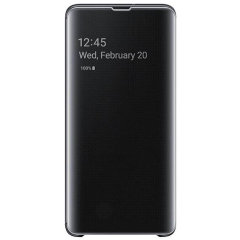 This Official Samsung Clear View Cover in Black is the perfect way to keep your Galaxy S10 5G smartphone protected whilst keeping yourself updated with your notifications thanks to the clear view front cover.
