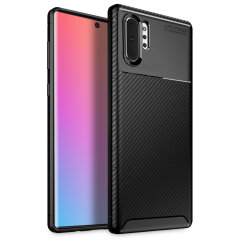 Olixar Carbon Fibre case is a perfect choice for those who need both the looks and protection! A flexible TPU material is paired with an eye-catching carbon print to make sure your Samsung Note 10 Plus is well-protected and looks good in any setting.