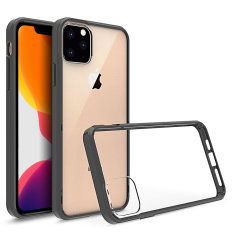 Custom moulded for the Apple iPhone 11 Pro Max. This black and clear Olixar ExoShield tough case provides a slim fitting stylish design and reinforced corner shock protection against damage, keeping your device looking great at all times